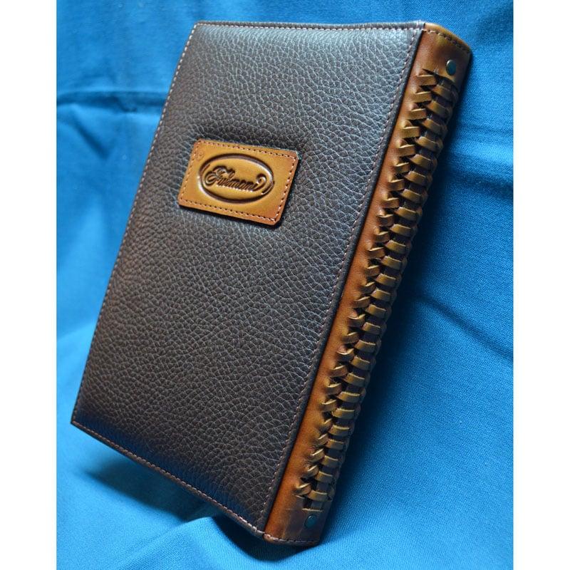 Блокнот мужской в кожаной обложке SCARAB brown leather