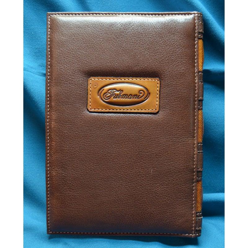 Ежедневник кожаный в подарок SNAIL brown leather