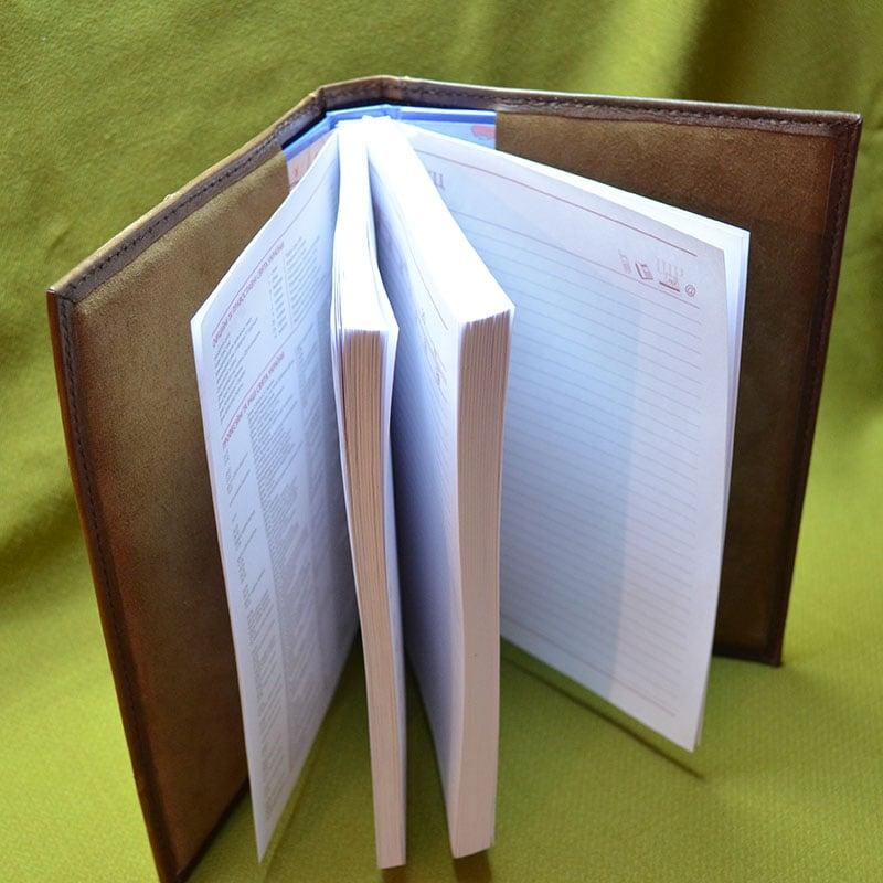 Авторский именной ежедневник в подарок AIRPLANE brown leather