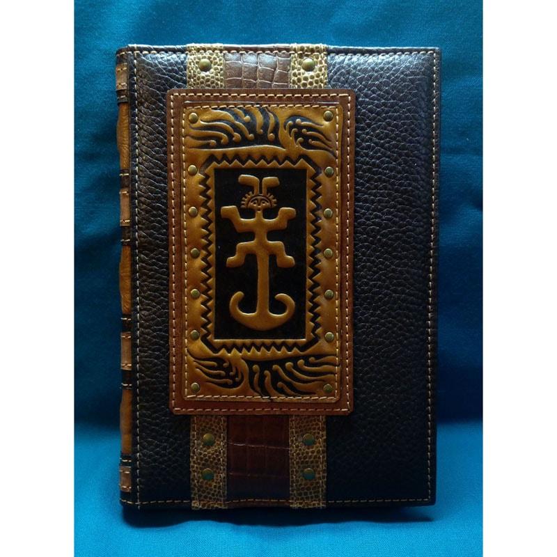 Мужской кожаный блокнот AMULET brown leather