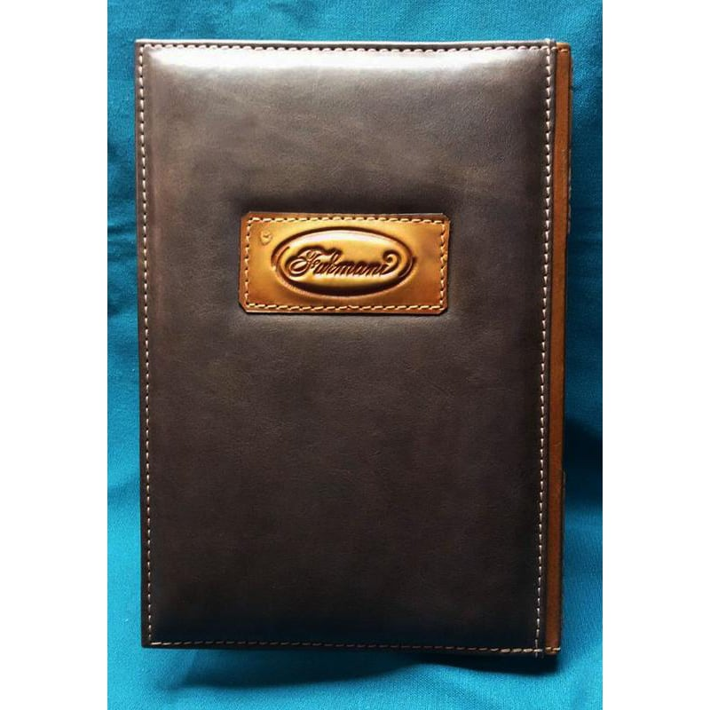 Шкіряний блокнот Hufflepuff brown leather