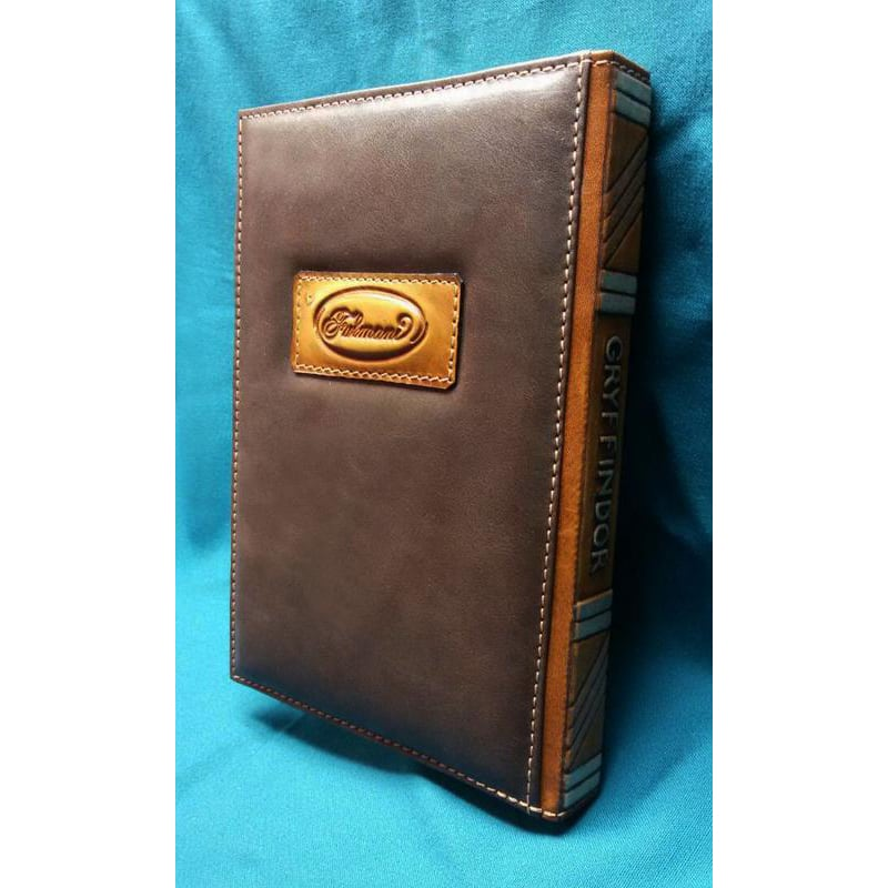 Авторский кожаный ежедневник Gryffindor brown leather