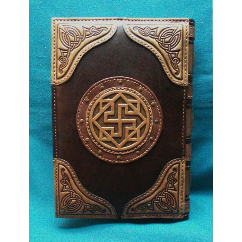 Ежедневник ручной работы в подарок Книга Велеса brown leather