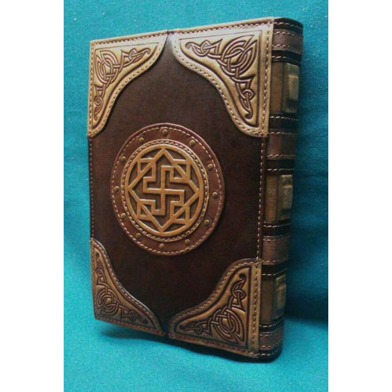 Кожаный блокнот Книга Велеса brown leather