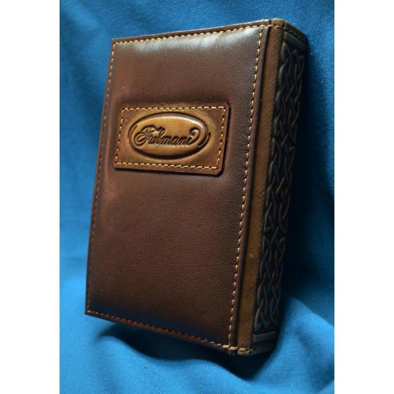 Дизайнерский ежедневник в подарок ГЛАЗ ГОРА brown leather