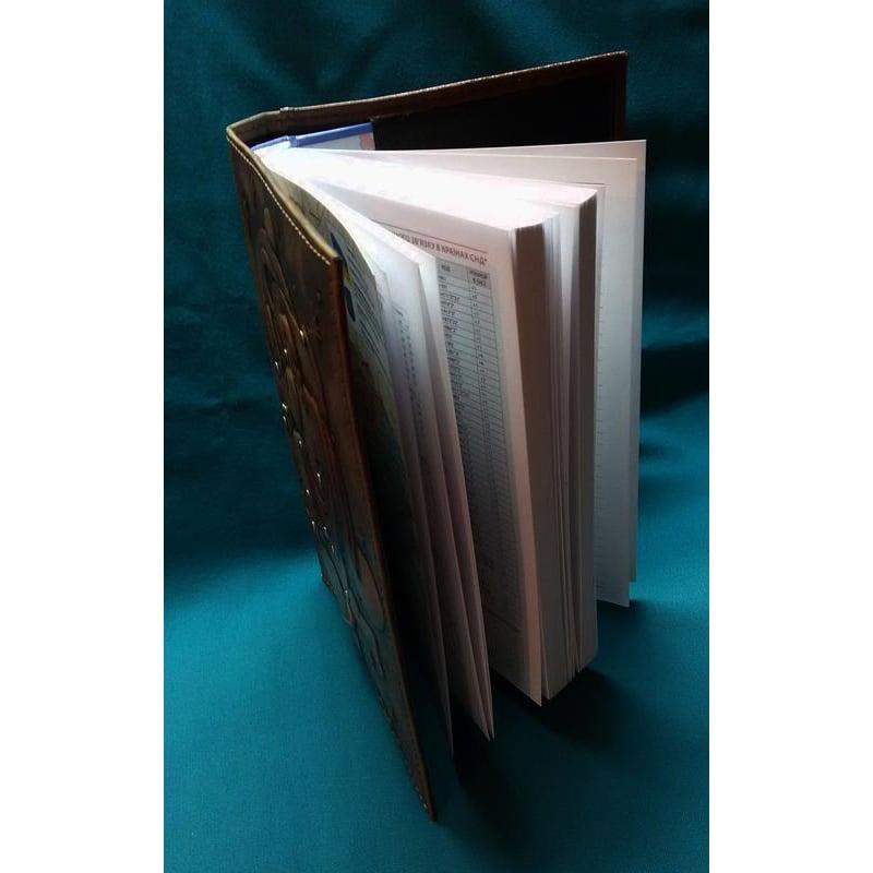 Блокнот кожаный ручной работы Aquarius brown leather