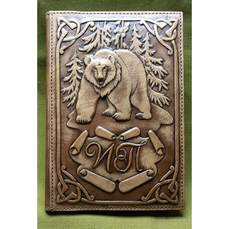 Шкіряний щоденник Грізлі brown leather