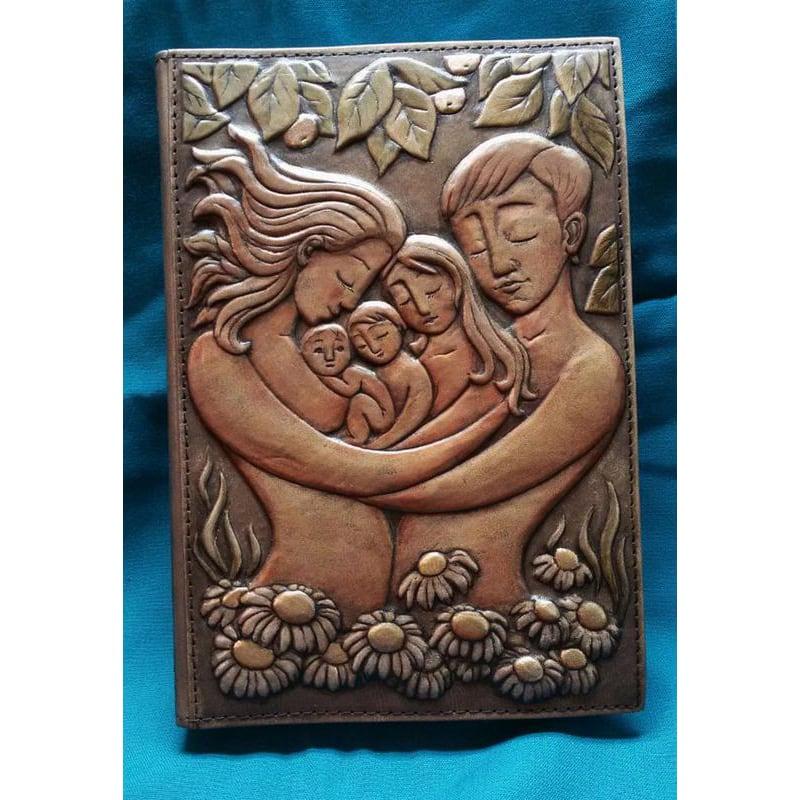 Щоденник у шкіряній обкладинці Номі brown leather