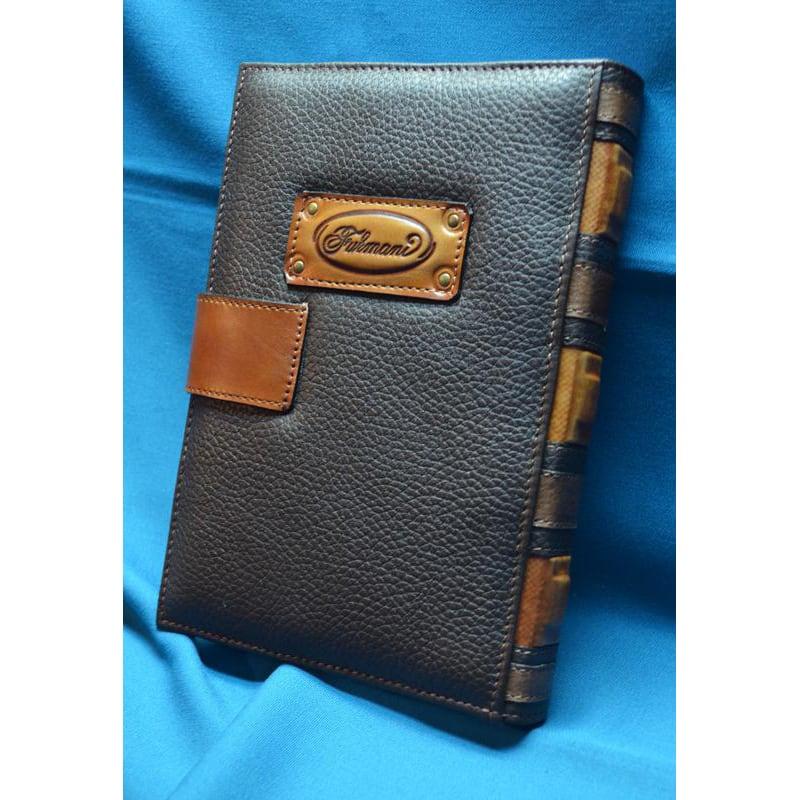Блокнот кожаный handmade Саламандра brown leather