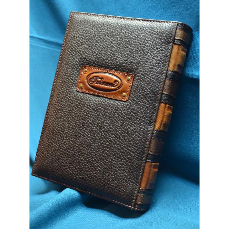Кожаный блокнот Улов brown leather