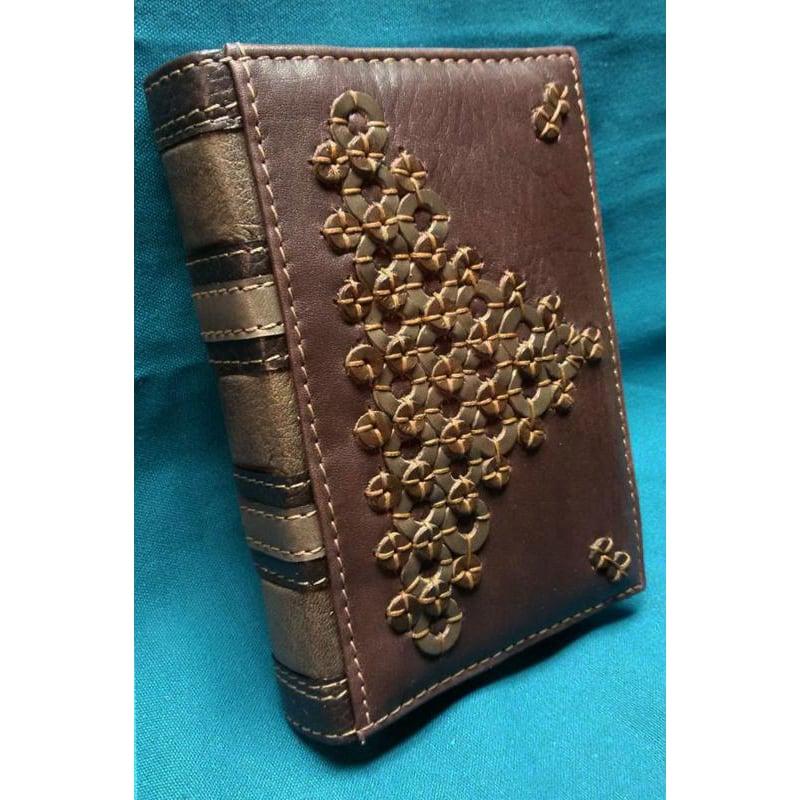 Ежедневник ручной работы в подарок Геометрия brown leather