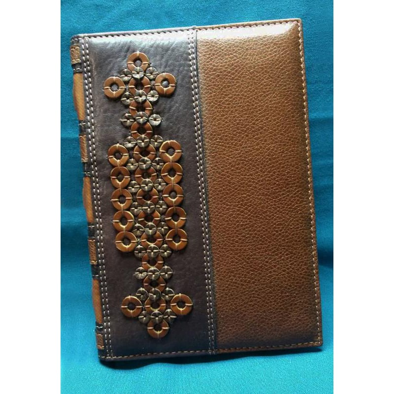Авторський щоденник у подарунок Орнамент brown leather