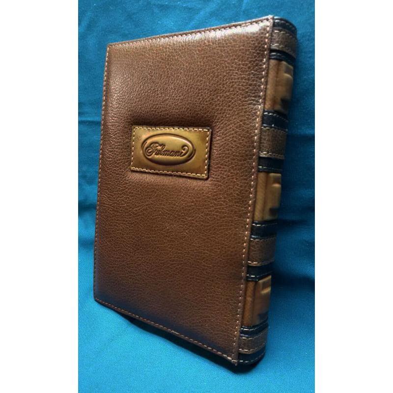 Авторский ежедневник в подарок Орнамент brown leather