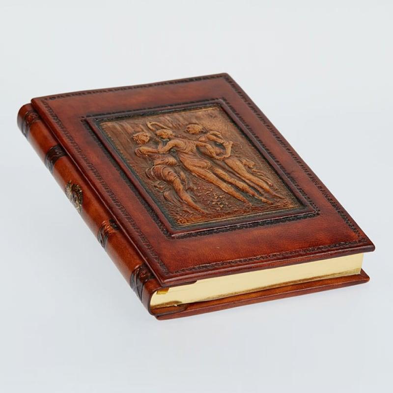 Щоденник в шкіряній палітурці Three Граціє brown leather