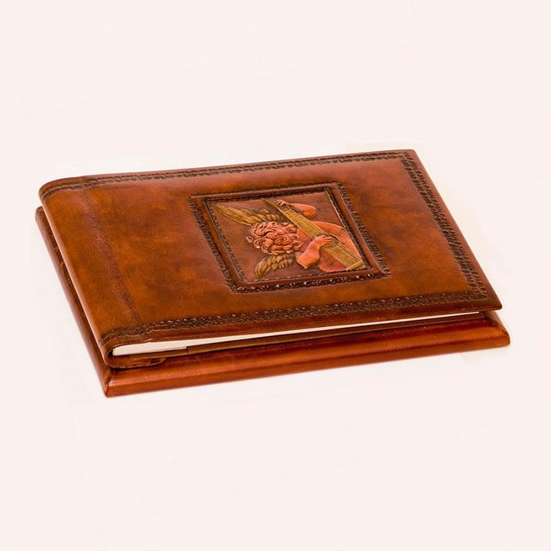 Ежедневник в кожаной обложке Ангел Россо brown leather