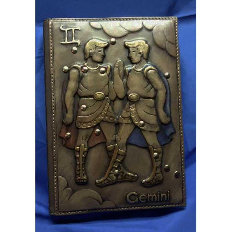 Блокнот в кожаном переплете Gemini brown leather