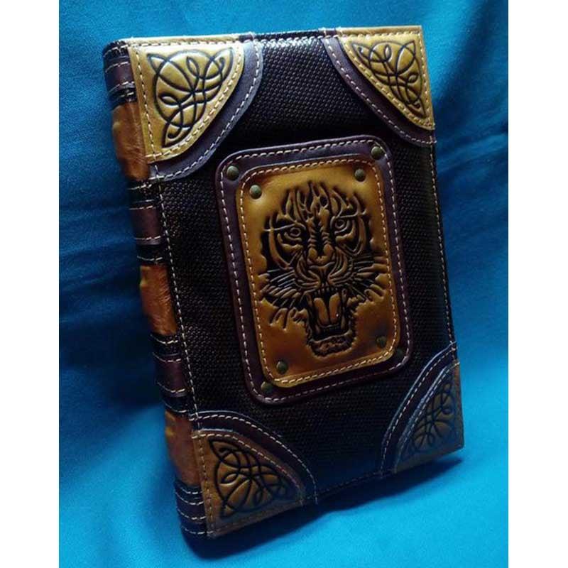 Кожаный блокнот Noble Тiger black leather