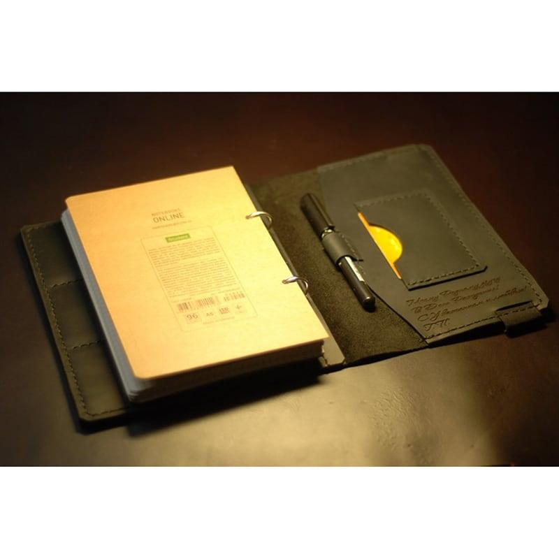 Блокнот кожаный с гравировкой Personal brown leather