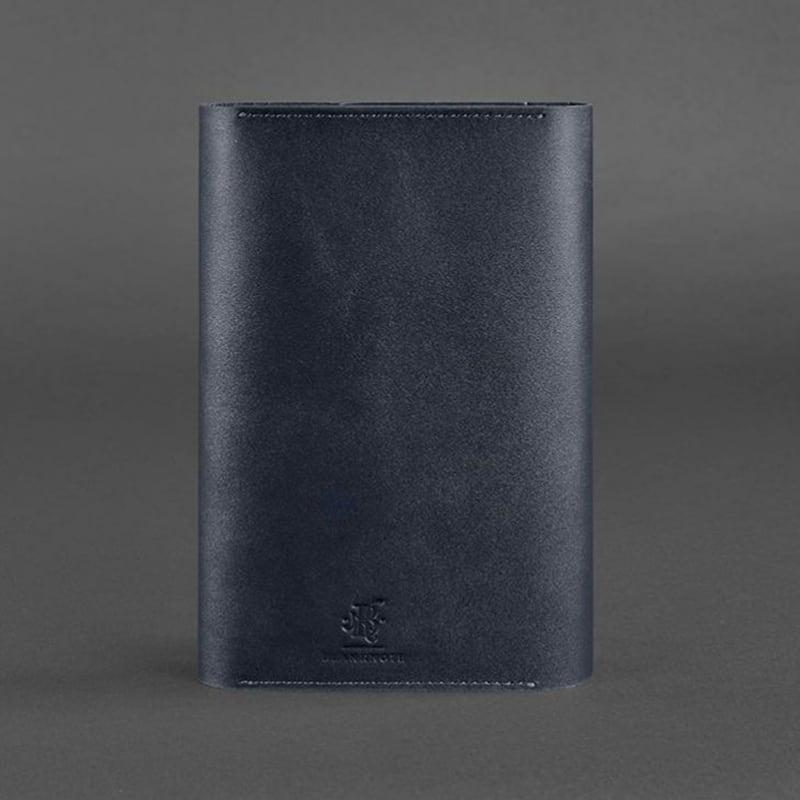 Щоденник у шкіряній обкладинці Soft Book Navy blue leather