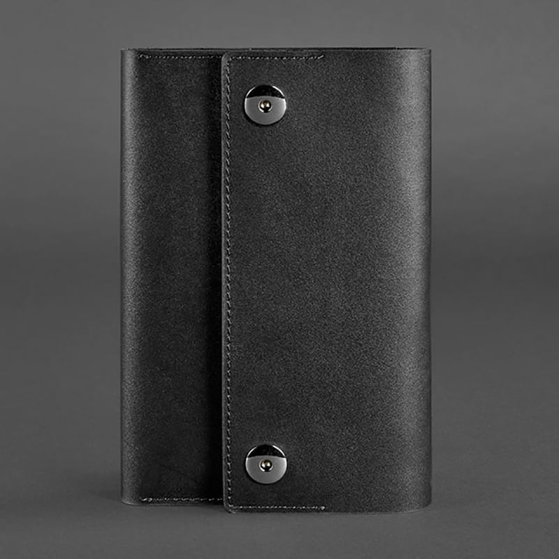 Блокнот в шкіряній палітурці Soft Book Volcano black leather