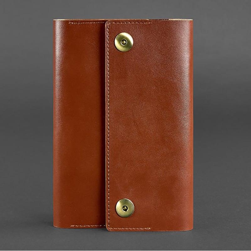 Кожаный блокнот Soft Book Cognac brown leather