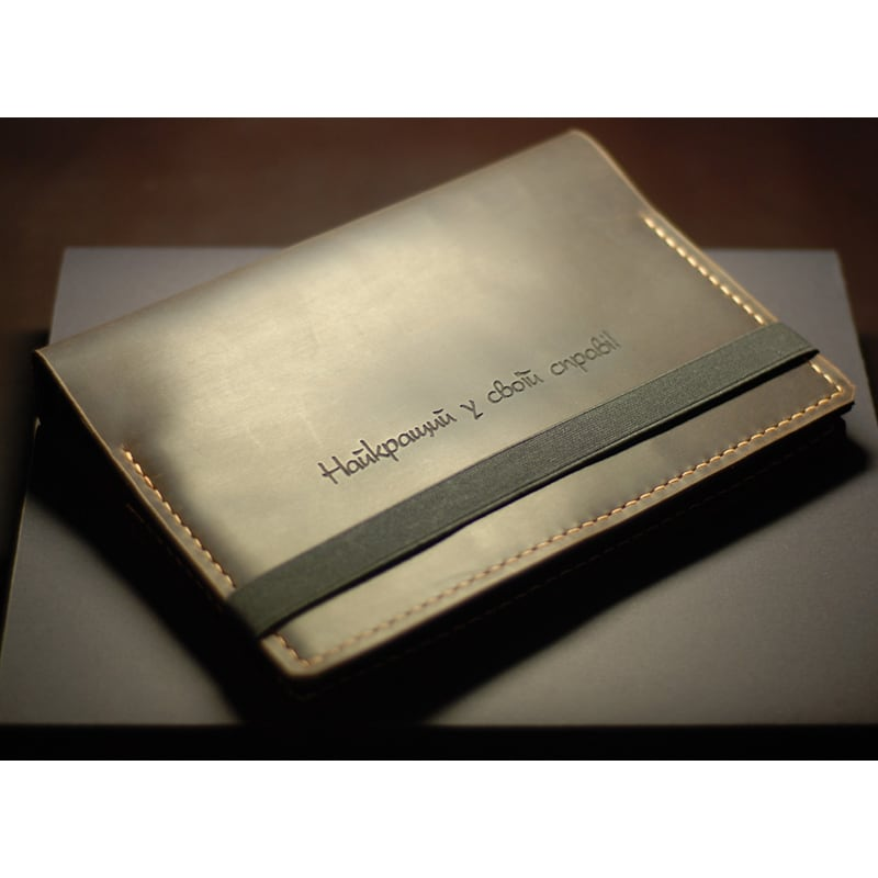 Ежедневник в кожаной обложке Notebook brown leather