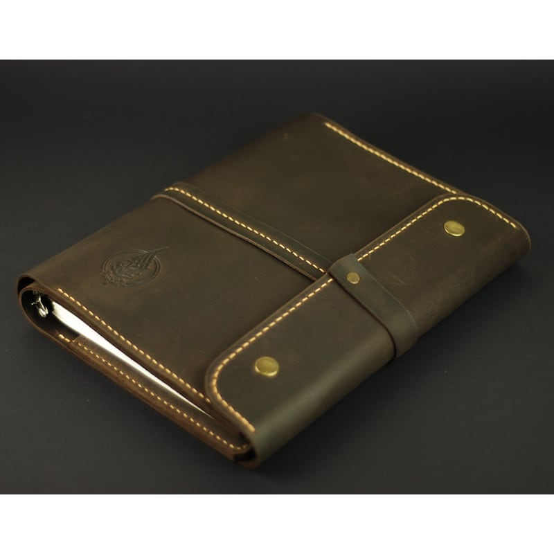Кожаный ежедневник Б5 Organizer brown leather
