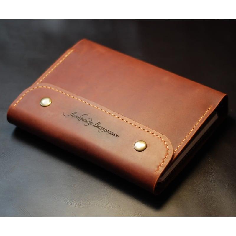 Кожаный блокнот А5 на кольцах Jotter brown leather