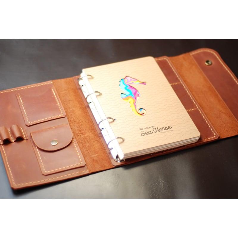 Шкіряний блокнот А5 на кільцях Jotter brown leather