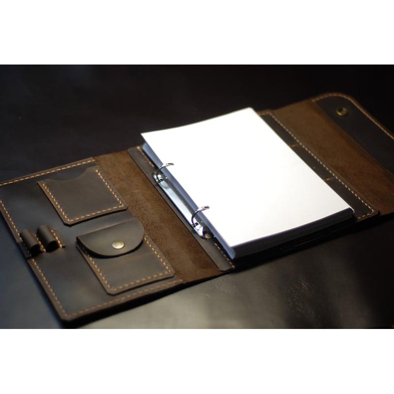 Шкіряний щоденник А5 Notepad brown leather