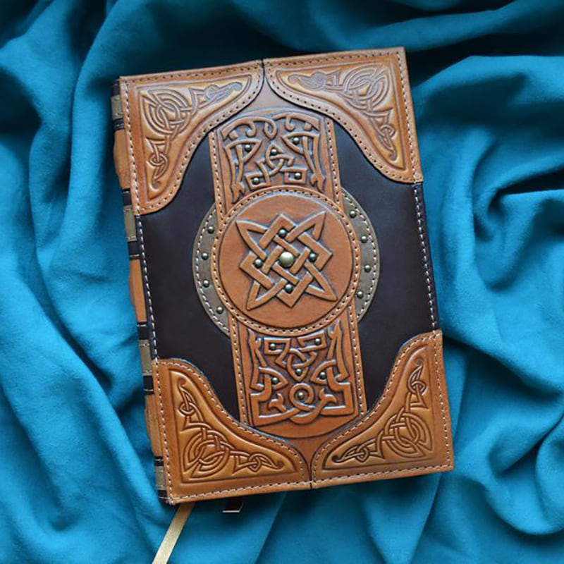 Шкіряний блокнот Кельтська Магія brown leather