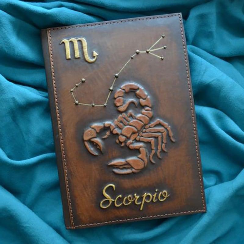 Щоденник у шкіряній обкладинці Scorpio brown leather