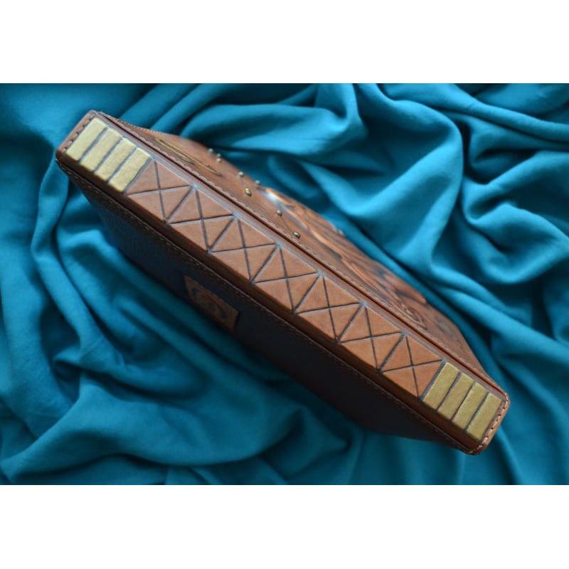 Шкіряний блокнот Lion brown leather