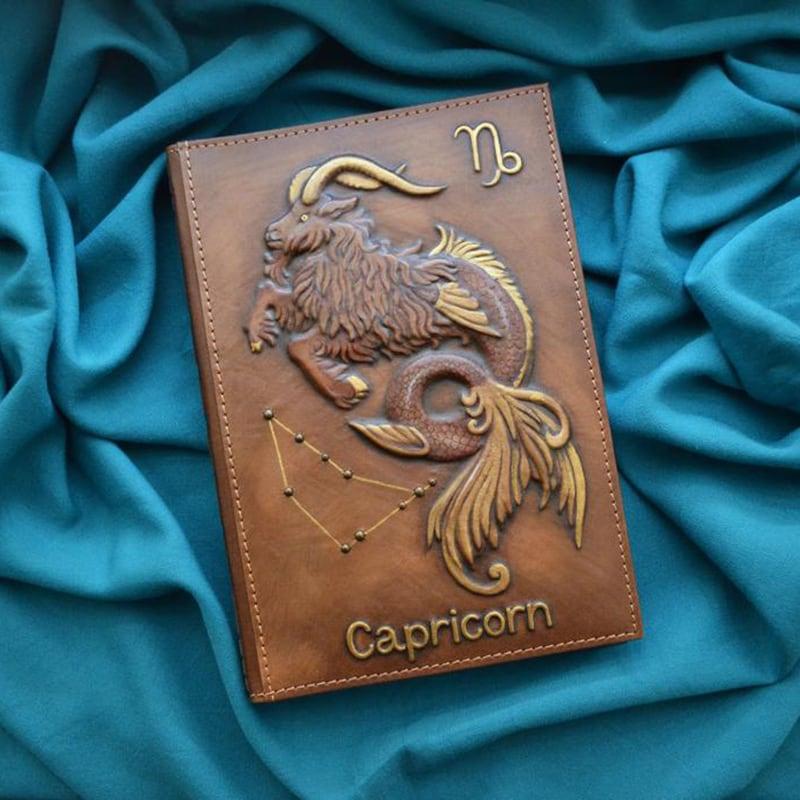 Блокнот в кожаной обложке Capricorn brown leather