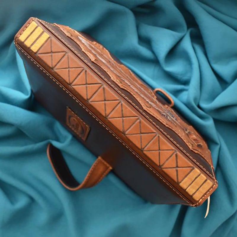 Блокнот мужской в кожаном переплете LYRICS brown leather