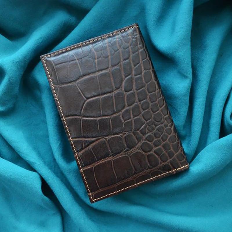 Блокнот в шкіряній обкладинці Puppy Spaniel brown leather
