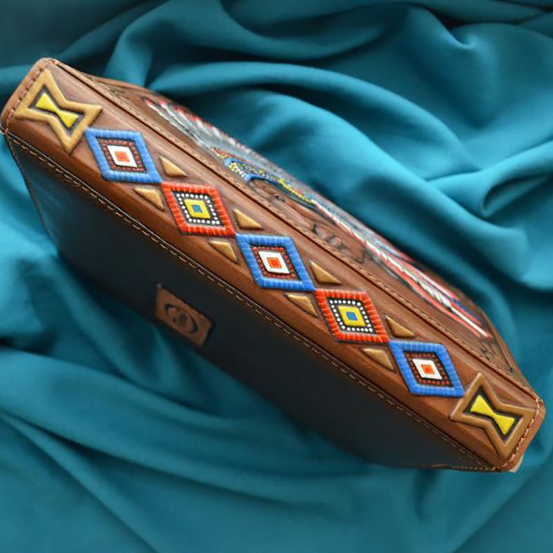 Кожаный блокнот Red Indian brown leather