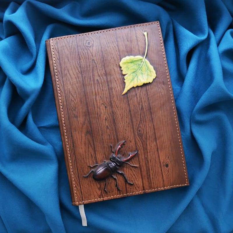 Кожаный ежедневник Stag Вeetle brown leather