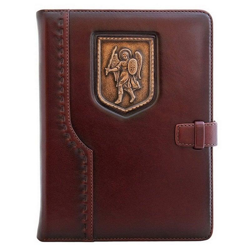 Шкіряний щоденник Архангел Михаїл brown leather