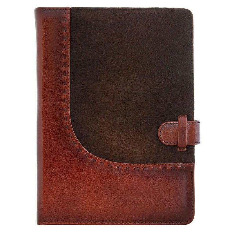 Шкіряний блокнот Vintage brown leather