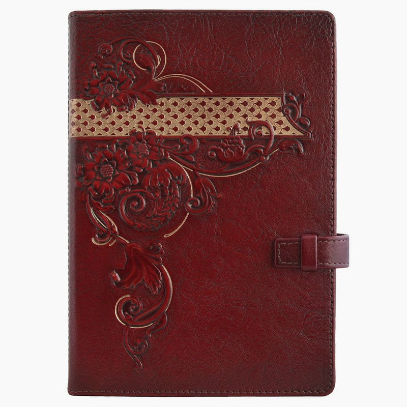 Женский кожаный блокнот Arabesque brown leather