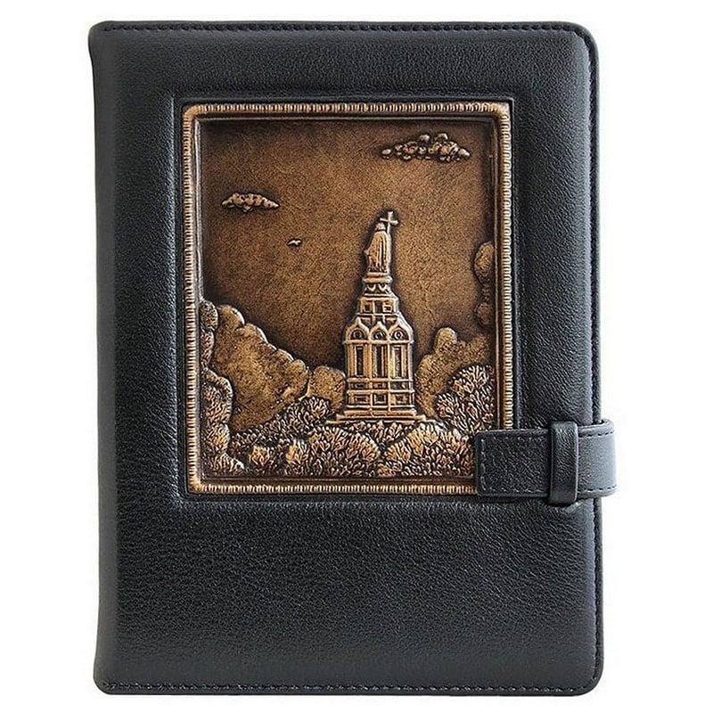 Блокнот в кожаной обложке Владимирская Горка black leather