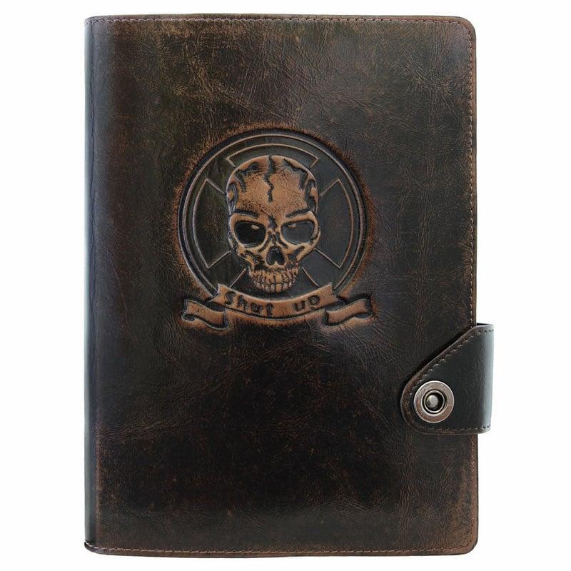 Блокнот в шкіряній обкладинці Gothic brown leather