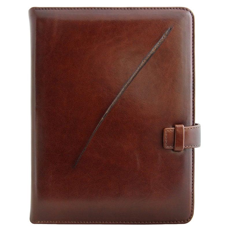 Кожаный ежедневник Predator brown leather