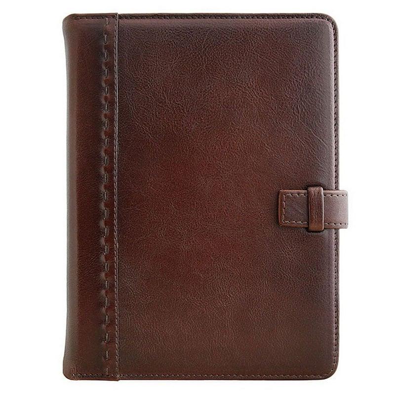 Кожаный блокнот Minimalism brown leather