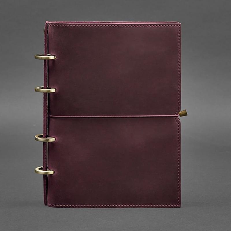 Ежедневник в кожаной обложке Grape Bordeaux Leather