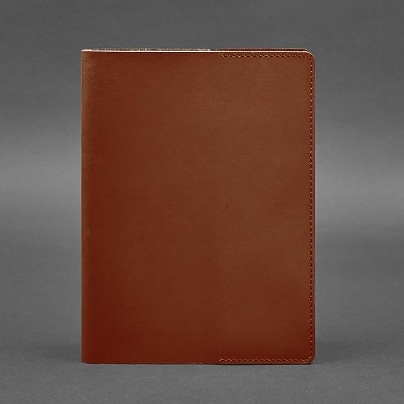 Кожаная обложка для блокнота Crust Brown Leather