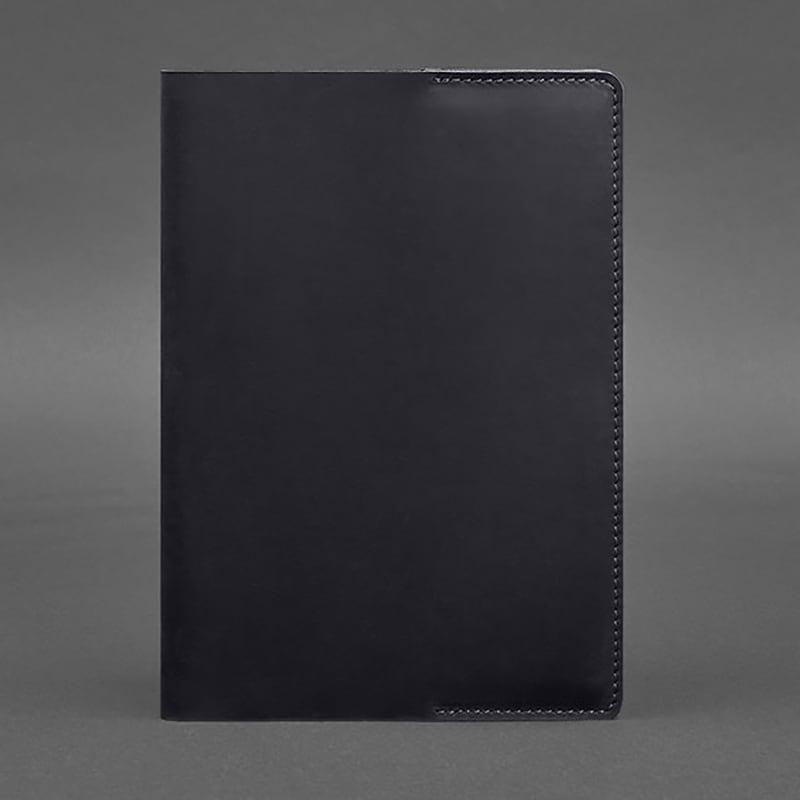 Шкіряна обкладинка для щоденника Navy Blue Leather