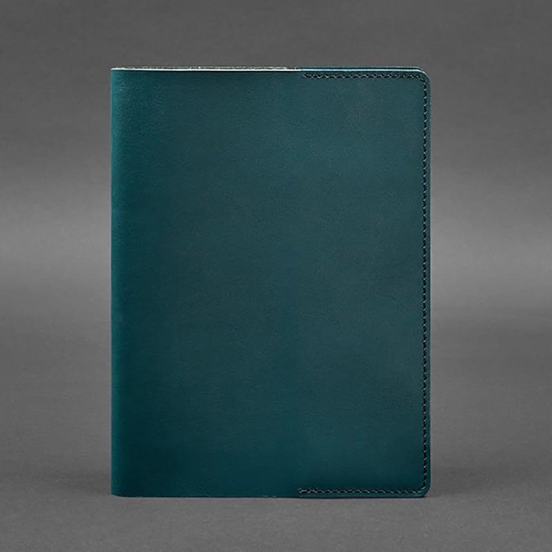 Шкіряна обкладинка для блокнота А5 Nephritis Green Leather