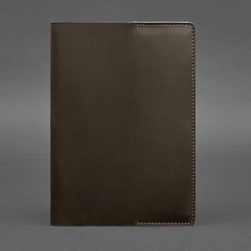 Кожаная обложка А5 Dark Сhocolate Brown Leather